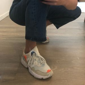 adidas Originals Yung-96 White & Orange Dad Sneaks